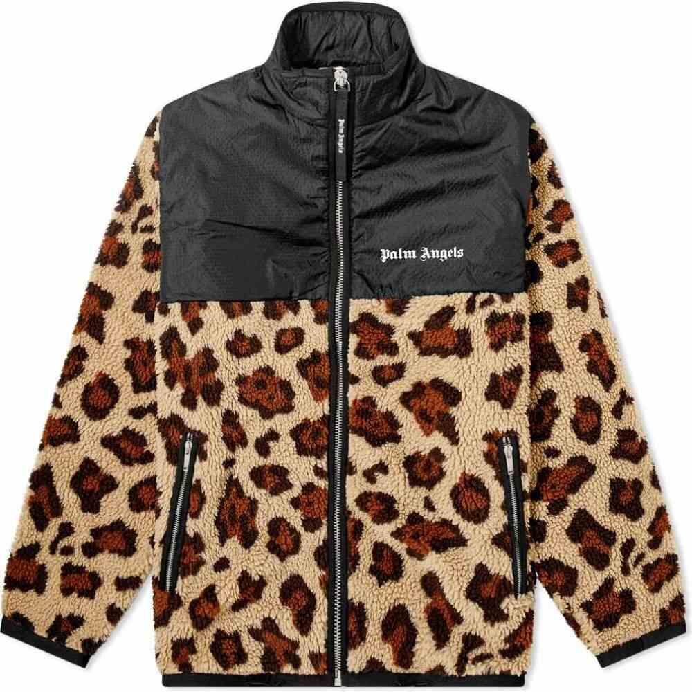パーム エンジェルス Palm Angels メンズ フリース トップス【animal sherpa fleece jacket】Beige/Black