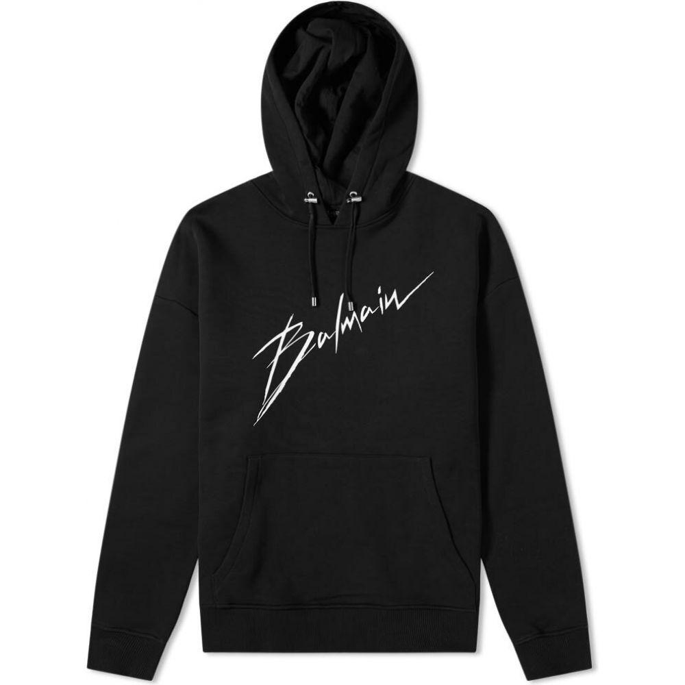 バルマン Balmain メンズ パーカー トップス【logo hoody】Black
