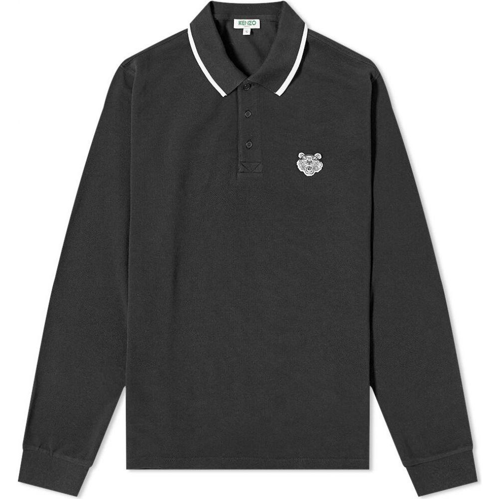ケンゾー Kenzo メンズ ポロシャツ トップス【long sleeve tiger polo】Black