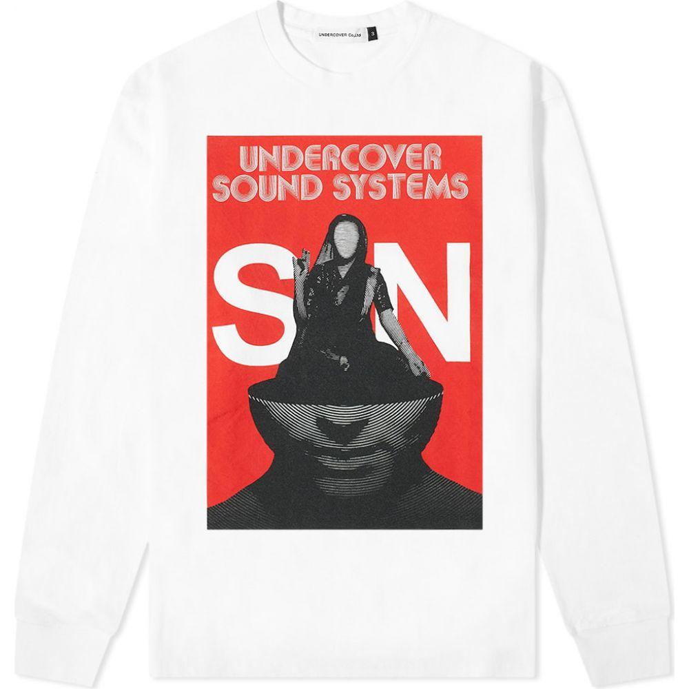 アンダーカバー Undercover メンズ 長袖Tシャツ トップス【long sleeve sound systems tee】White