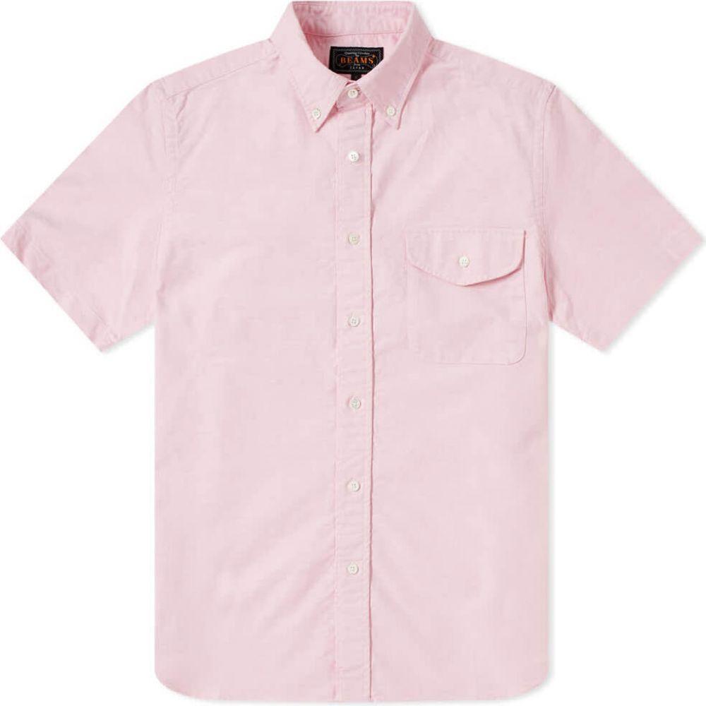 ビームス プラス Beams Plus メンズ 半袖シャツ トップス【short sleeve oxford shirt】Pink