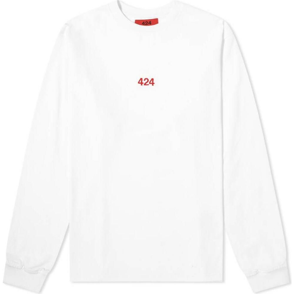 フォートゥーフォー 424 メンズ 長袖Tシャツ ロゴTシャツ トップス【long sleeve classic logo tee】White