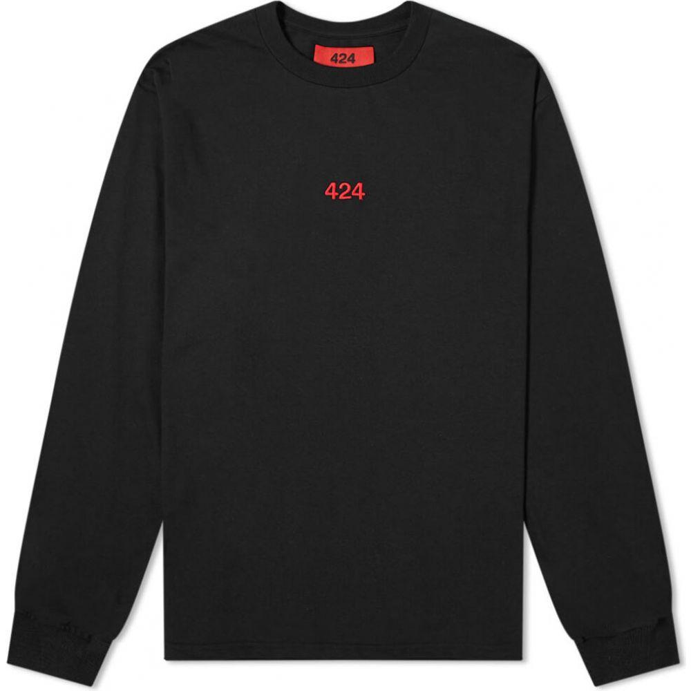 フォートゥーフォー 424 メンズ 長袖Tシャツ ロゴTシャツ トップス【long sleeve classic logo tee】Black