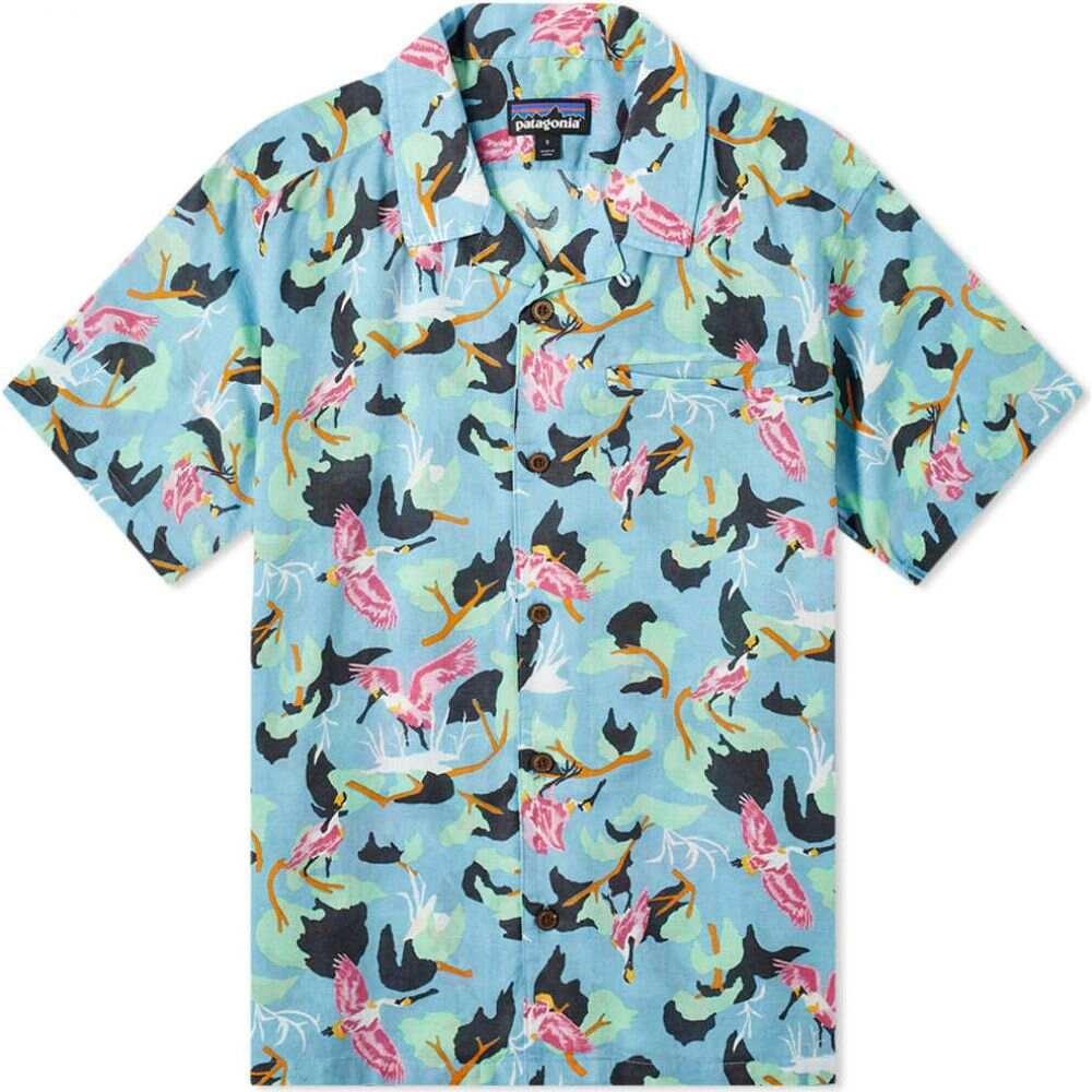 パタゴニア Patagonia メンズ 半袖シャツ トップス【lightweight a/c shirt】Big Sky Blue