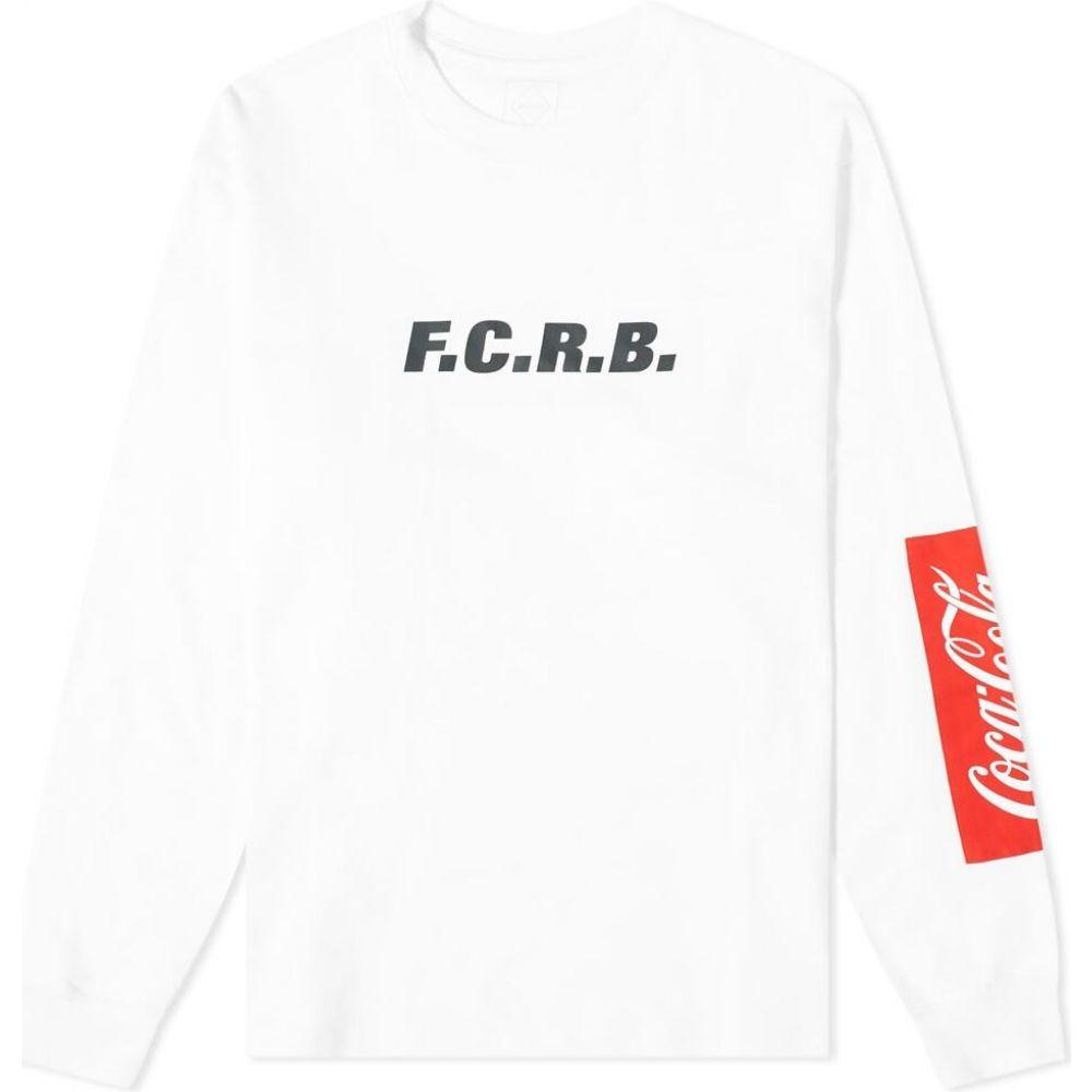 エフシーレアルブリストル F.C. Real Bristol メンズ 長袖Tシャツ トップス【x coca-cola long sleeve patched tee】White