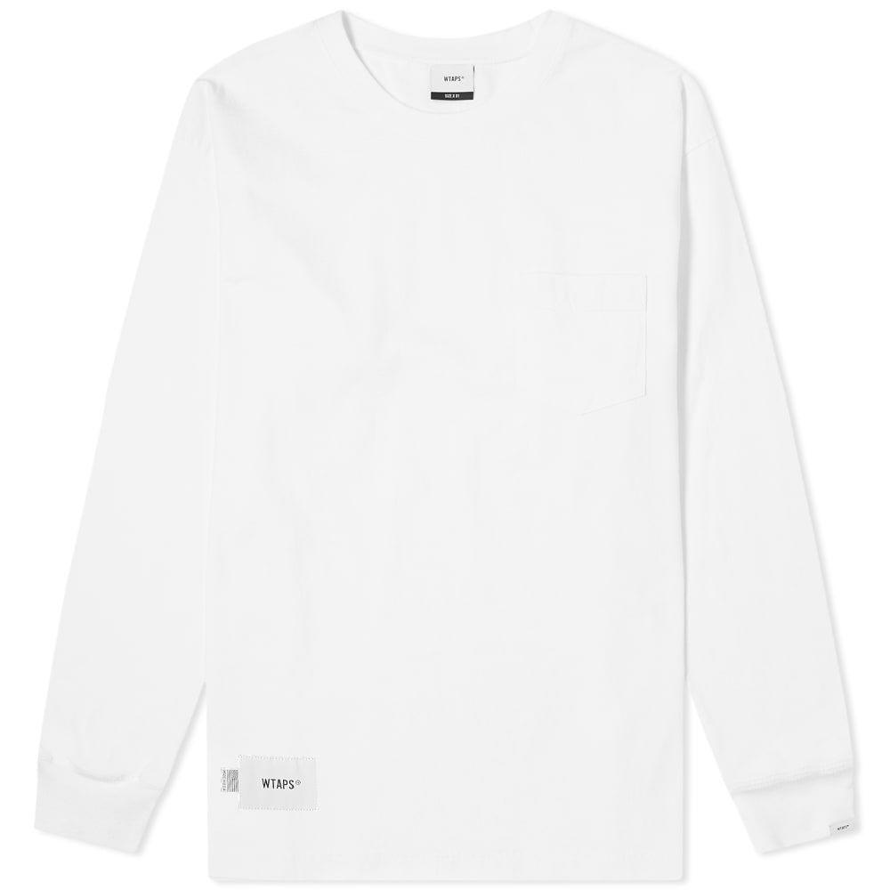 ダブルタップス WTAPS メンズ 長袖Tシャツ トップス【long sleeve blank usa tee】White