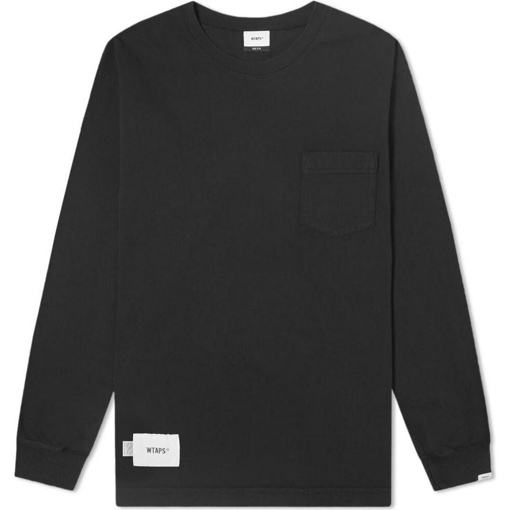 ダブルタップス WTAPS メンズ 長袖Tシャツ トップス【long sleeve blank usa tee】Black