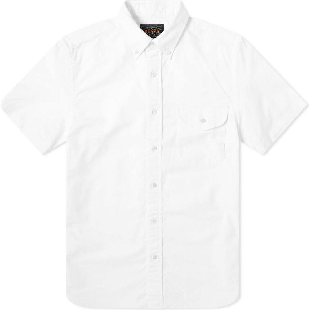 ビームス プラス Beams Plus メンズ 半袖シャツ トップス【short sleeve oxford shirt】White