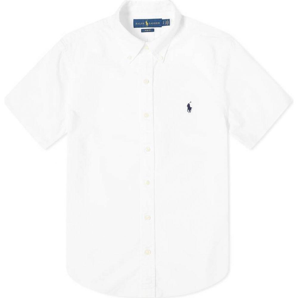 ラルフ ローレン Polo Ralph Lauren メンズ 半袖シャツ トップス【short sleeve garment dyed oxford shirt】White