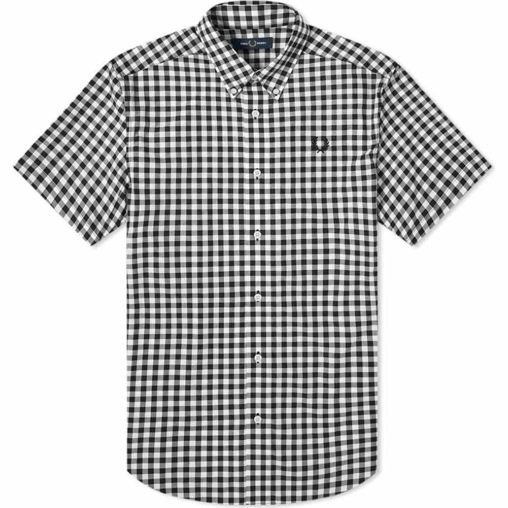フレッドペリー Fred Perry Authentic メンズ 半袖シャツ トップス【short sleeve gingham shirt】White