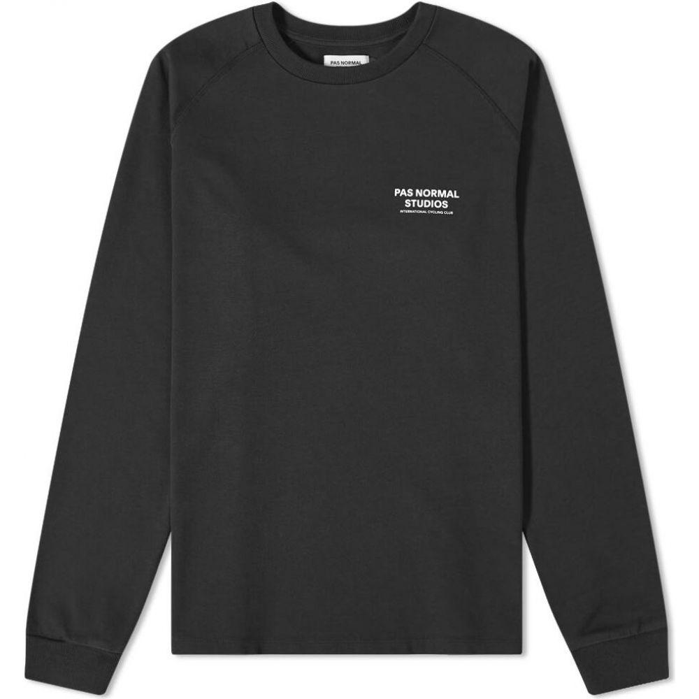 パス ノーマル スタジオ Pas Normal Studios メンズ 長袖Tシャツ ロゴTシャツ トップス【pas normal long sleeve logo tee】Black/White