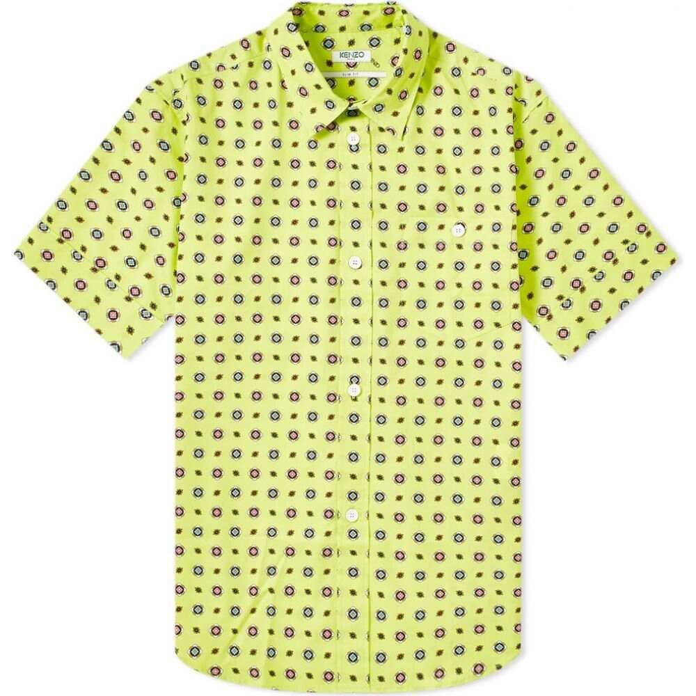 ケンゾー Kenzo メンズ 半袖シャツ トップス【short sleeve geometric shirt】Lemon