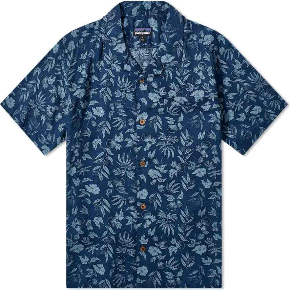 パタゴニア Patagonia メンズ 半袖シャツ トップス【lightweight a/c shirt】Stone Blue Fiber Flora