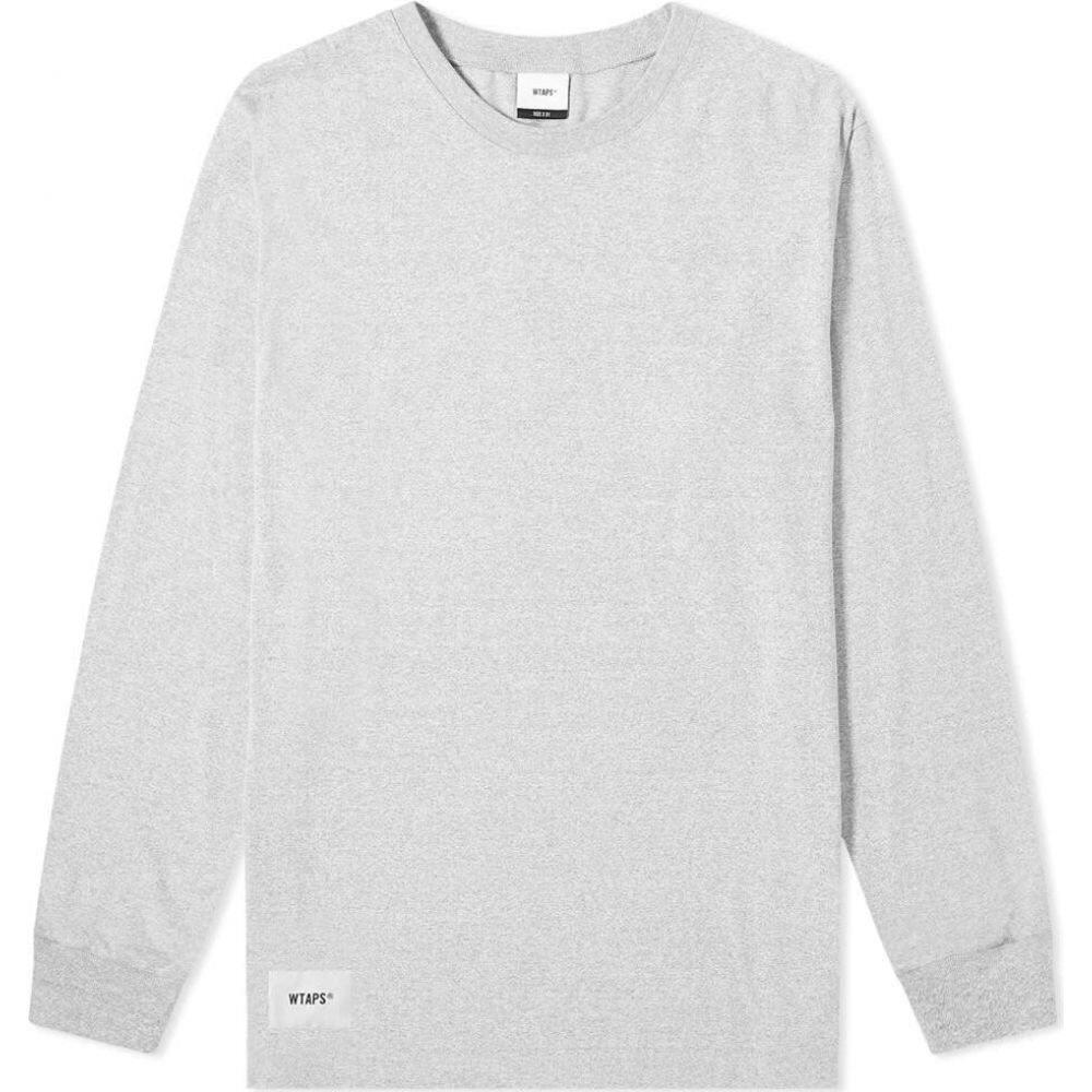 ダブルタップス WTAPS メンズ 長袖Tシャツ トップス【long sleeve sign. design tee】Grey