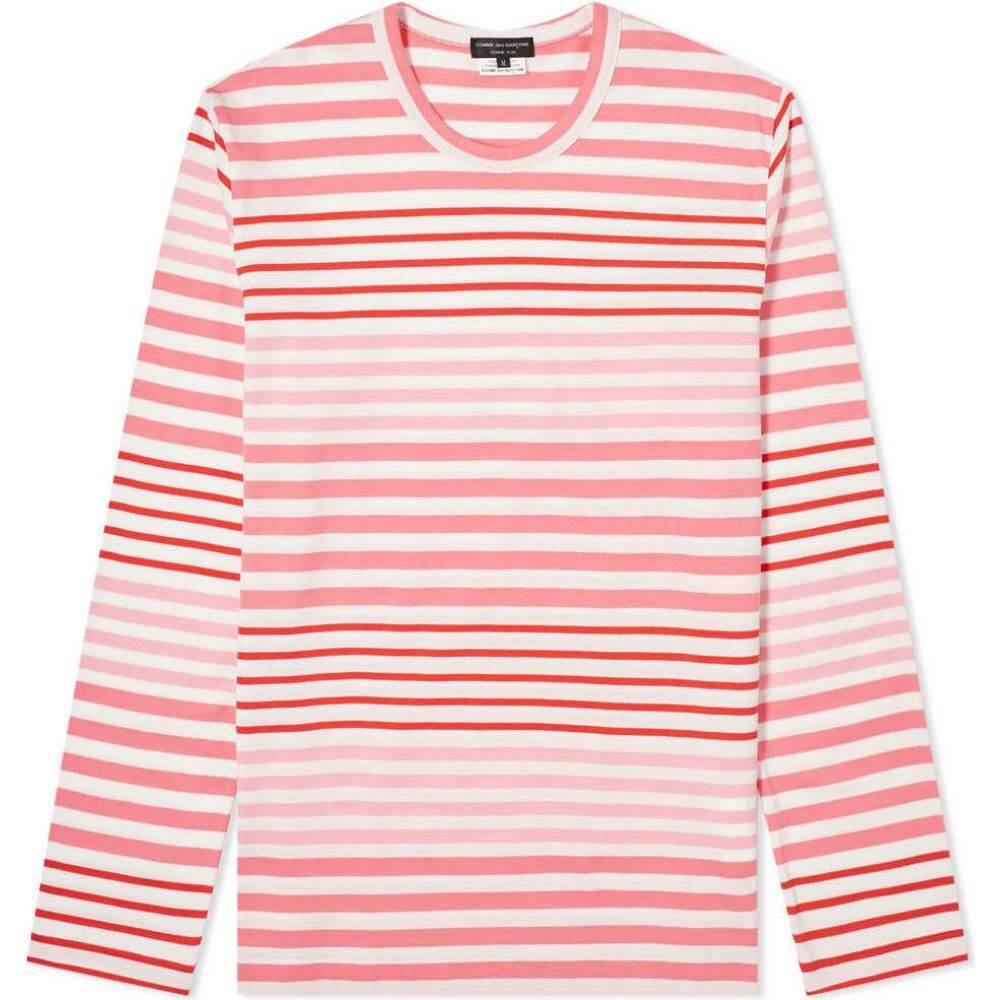 コム デ ギャルソン Comme des Garcons Homme Plus メンズ 長袖Tシャツ トップス【multi stripe long tee】White/Multi