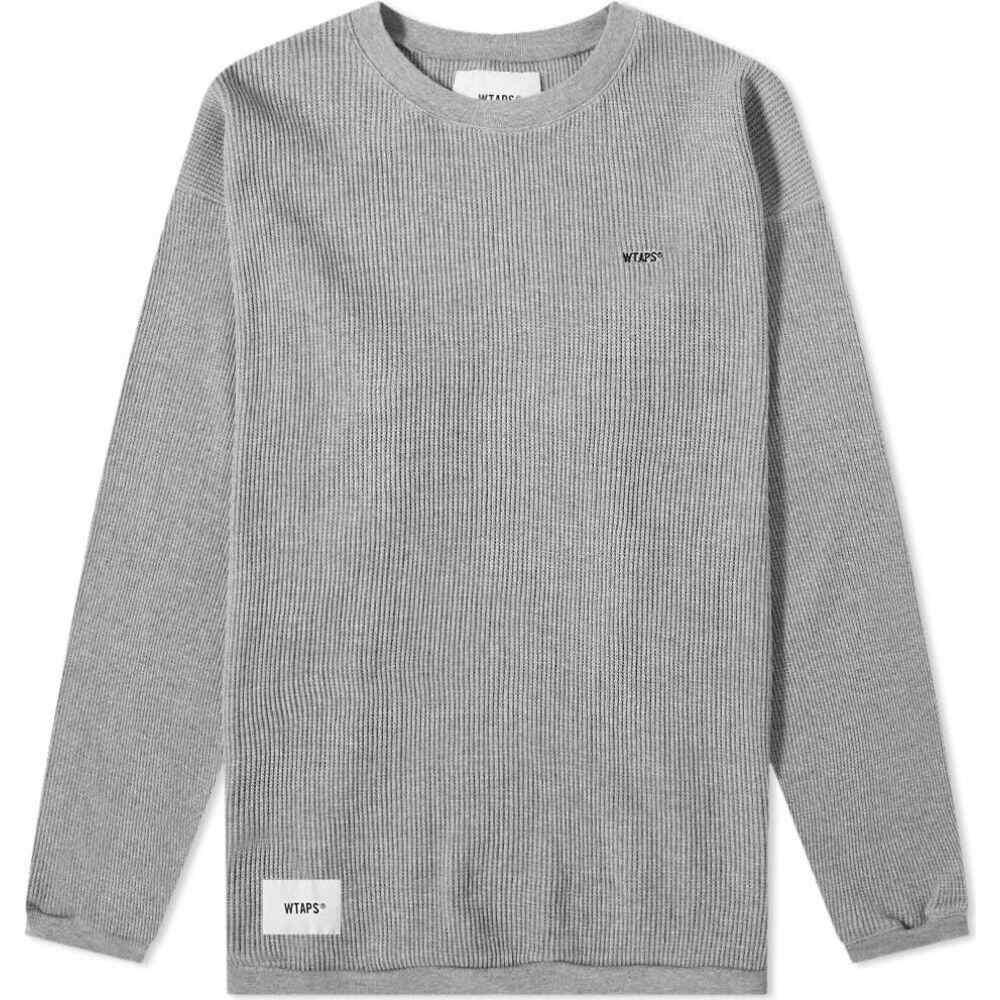 ダブルタップス WTAPS メンズ 長袖Tシャツ トップス【long sleeve waffle tee】Grey
