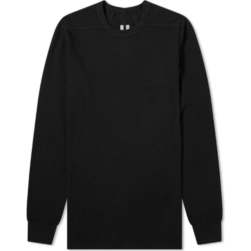 リック オウエンス Rick Owens メンズ 長袖Tシャツ トップス【long sleeve level tee】Black