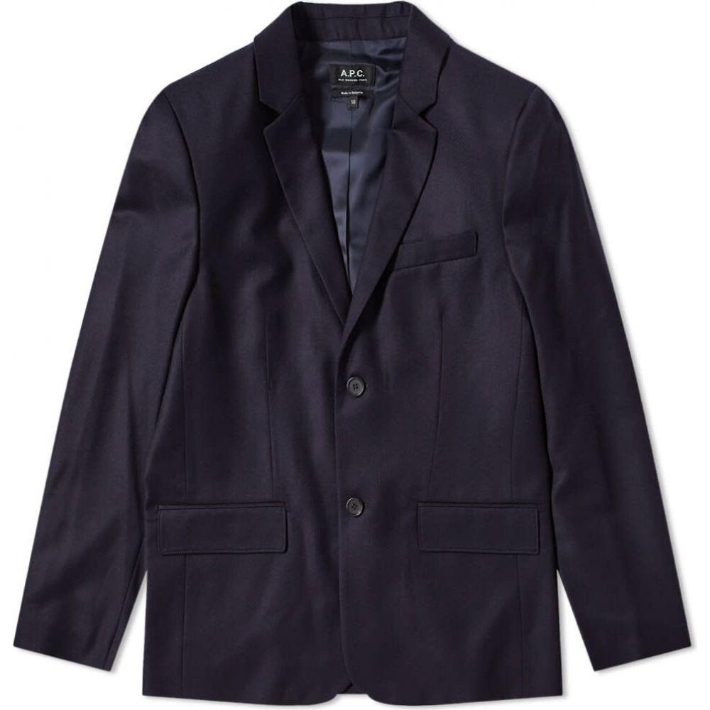 アーペーセー A.P.C. メンズ スーツ・ジャケット アウター【spencer flannel blazer】Dark Navy
