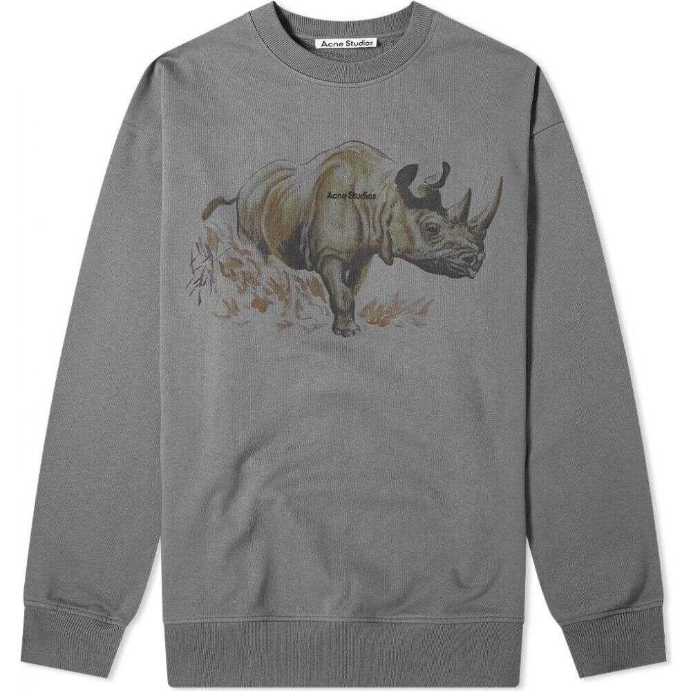 アクネ ストゥディオズ Acne Studios メンズ スウェット・トレーナー トップス【forban endangered species oversize crew sweat】Graphite Grey