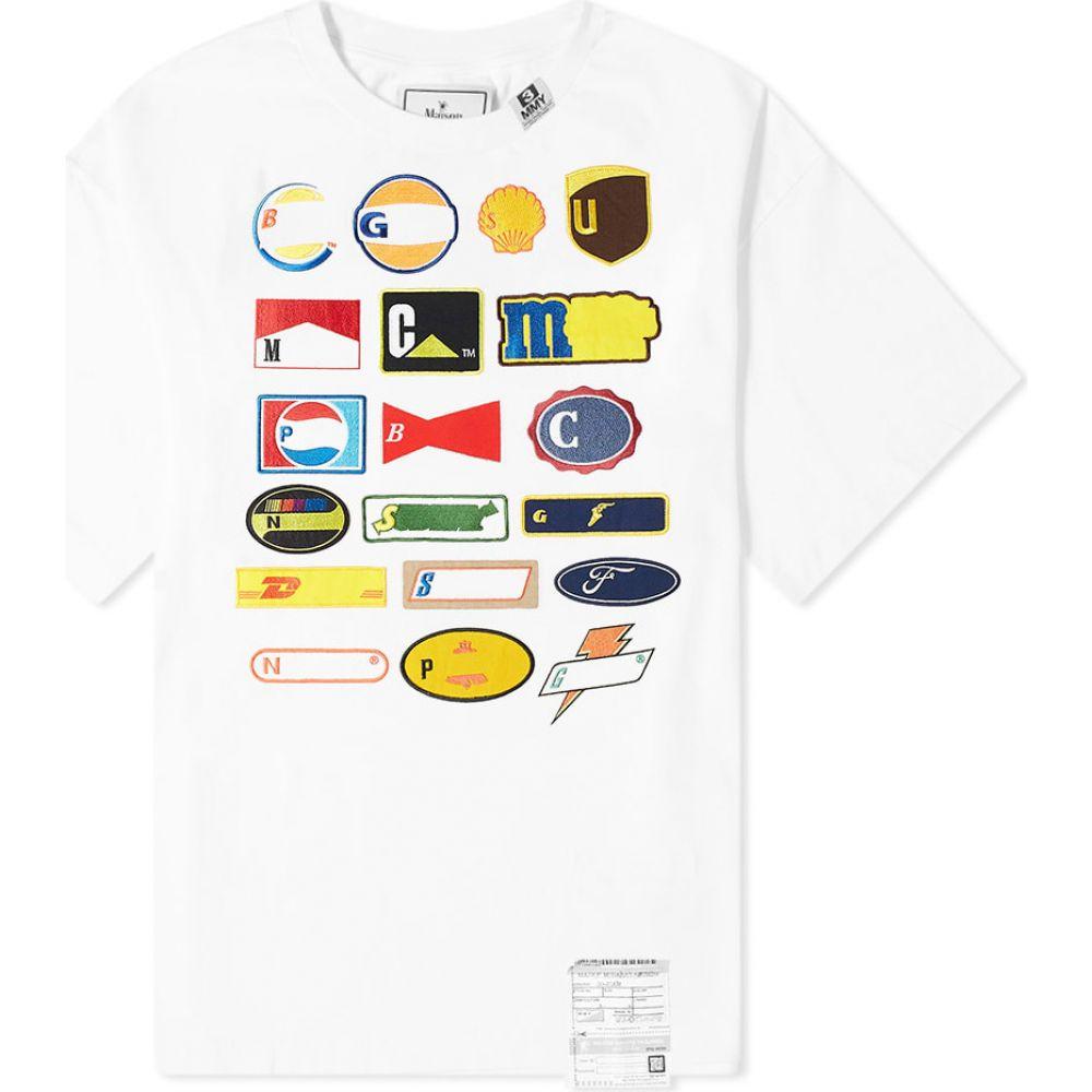 ミハラ ヤスヒロ Maison MIHARA YASUHIRO メンズ Tシャツ ロゴTシャツ トップス【multi logo patch tee】White