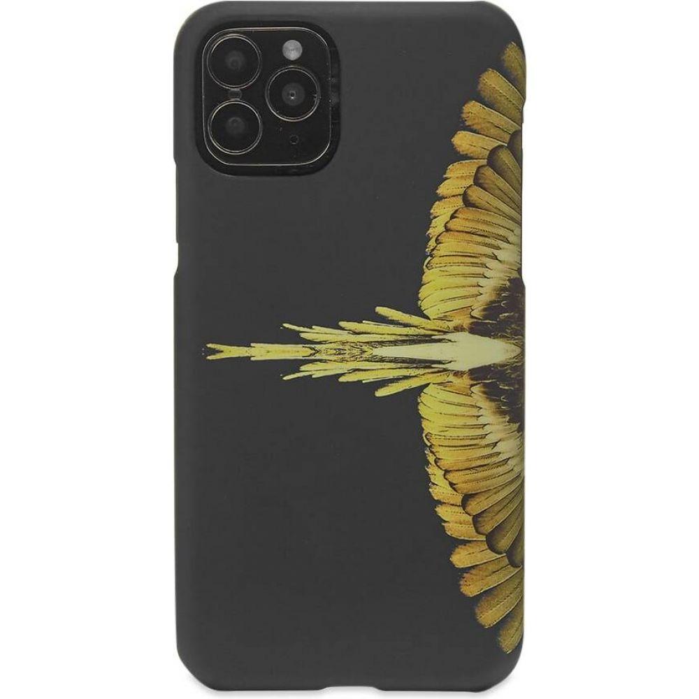 マルセロバーロン メンズ スマートフォン タブレットケース iPhone オンライン限定商品 11 Pro ケース Black Ochre iphone 超歓迎された Burlon pro Marcelo Yellow サイズ交換無料 wings case