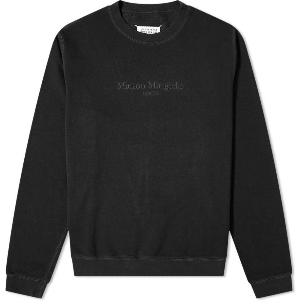 メゾン マルジェラ Maison Margiela メンズ スウェット・トレーナー トップス【14 braille logo crew sweat】Black