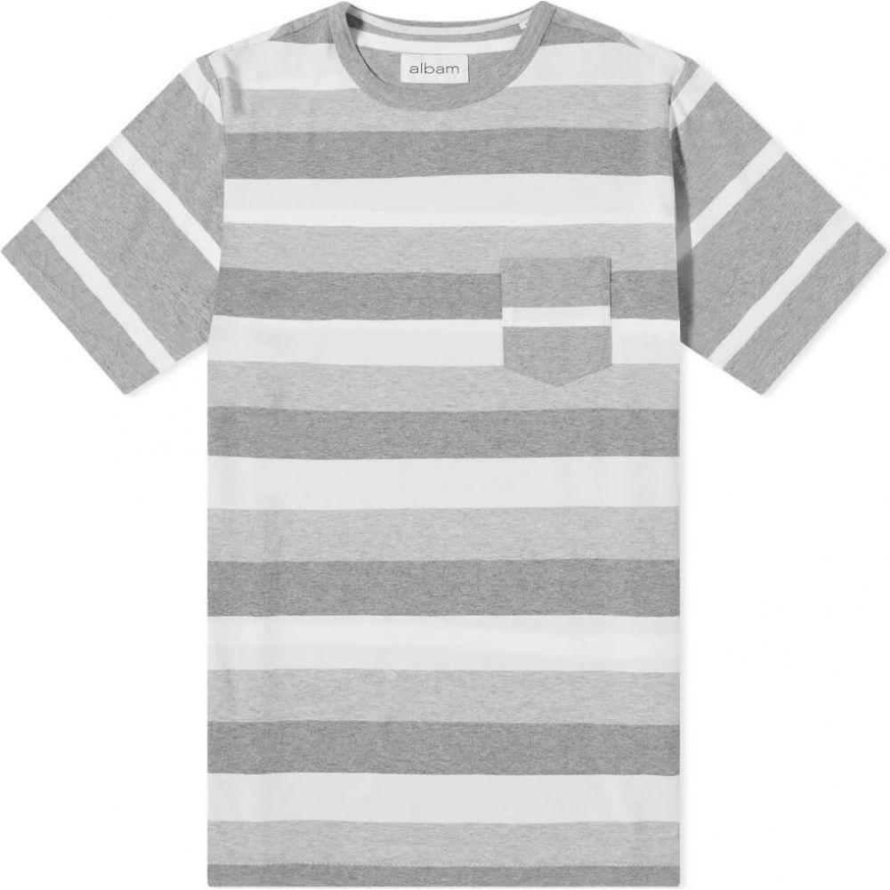 アルバム Albam メンズ Tシャツ トップス【whelan stripe tee】Ecru