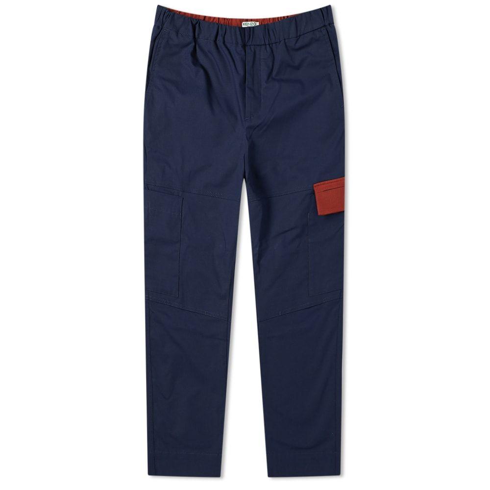 ケンゾー Kenzo メンズ カーゴパンツ ボトムス・パンツ【tapered cropped cargo pant】Navy Blue