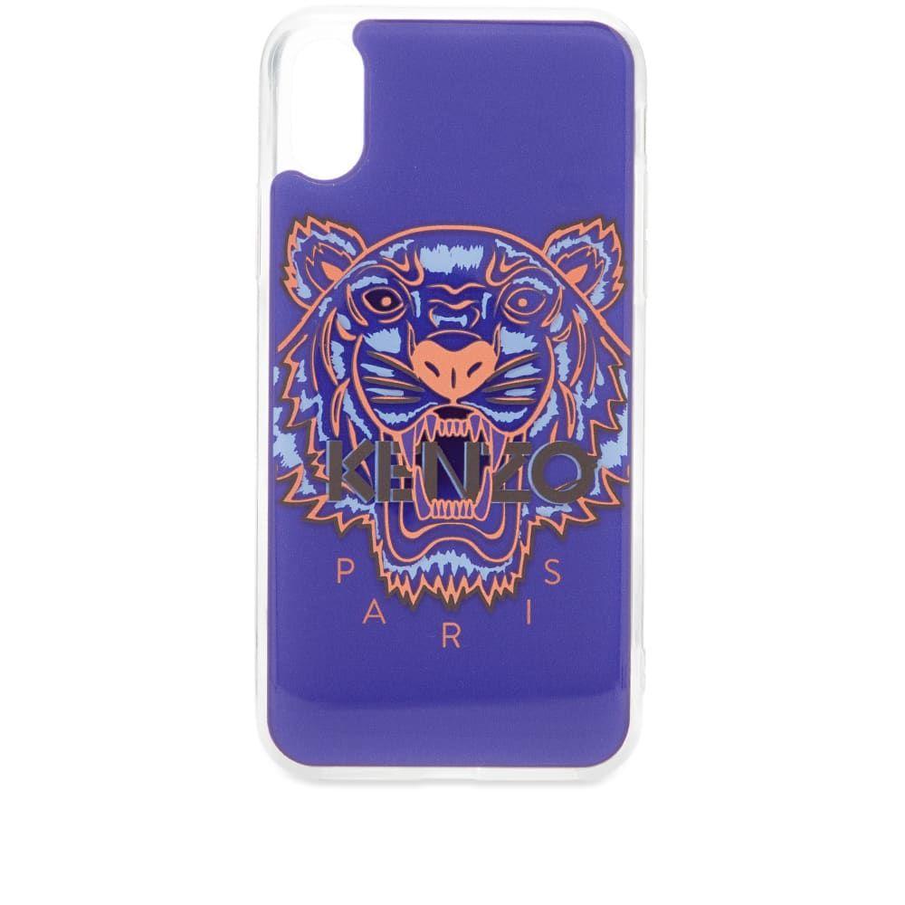 ケンゾー Kenzo メンズ iPhone (X)ケース 【iphone x/xs tiger case】Deep Sea Blue