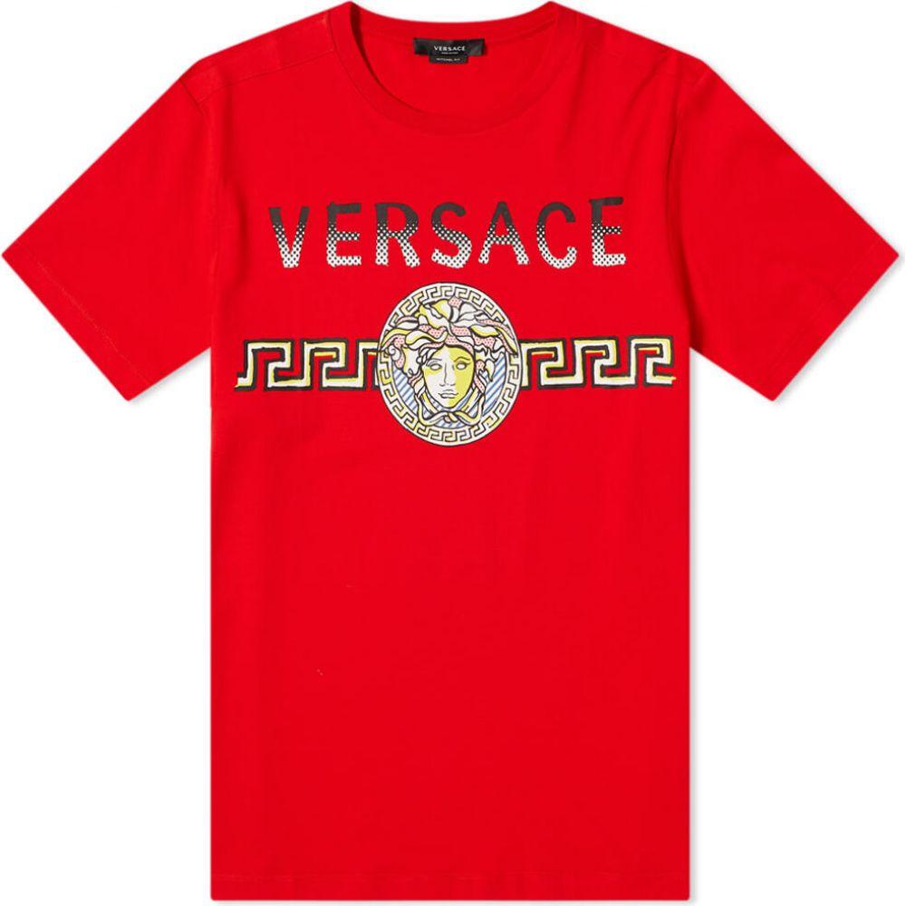 ヴェルサーチ Versace メンズ Tシャツ メデューサ ロゴTシャツ トップス【medusa logo print tee】Red