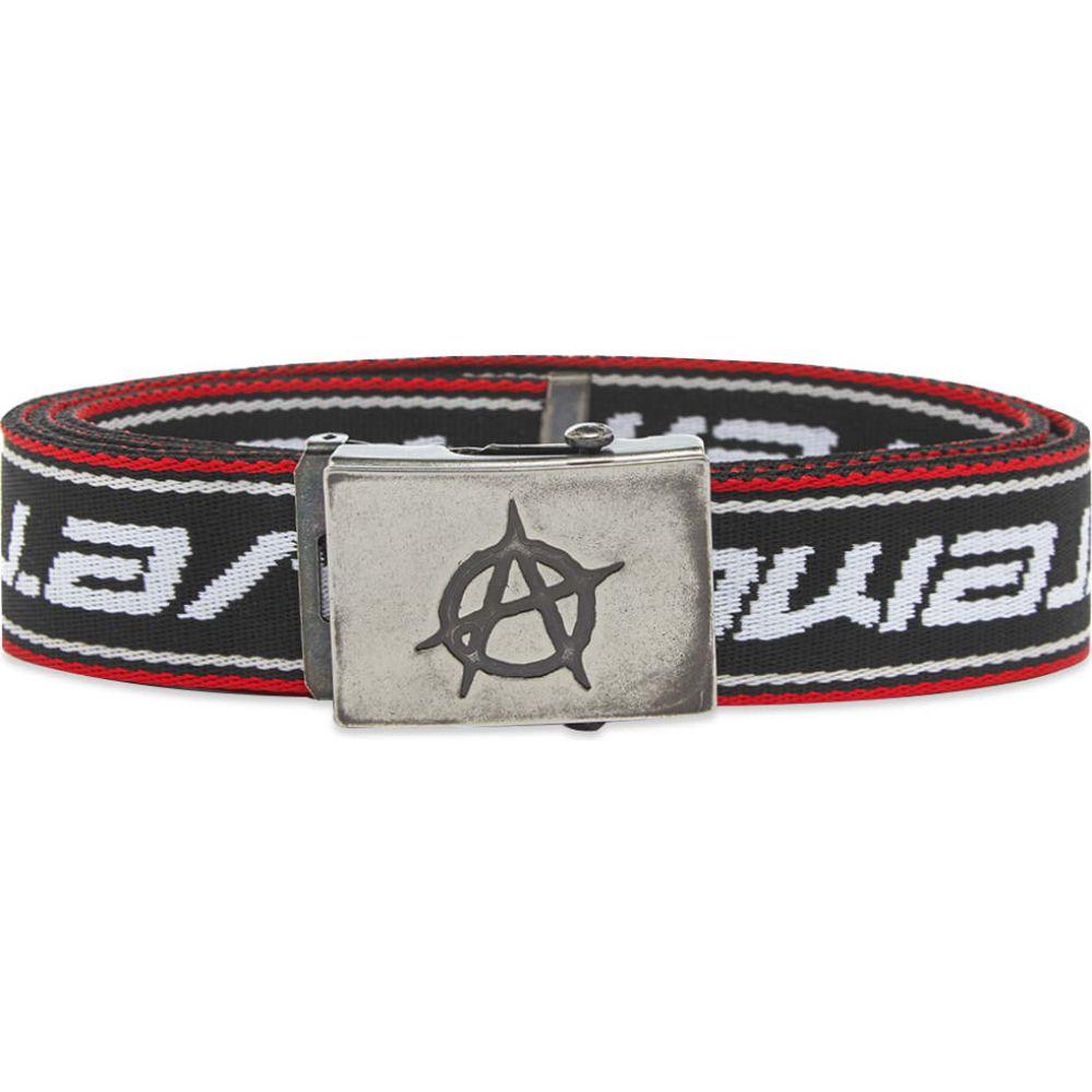 ヴェトモン VETEMENTS メンズ ベルト 【anarchy canvas belt】Black/White