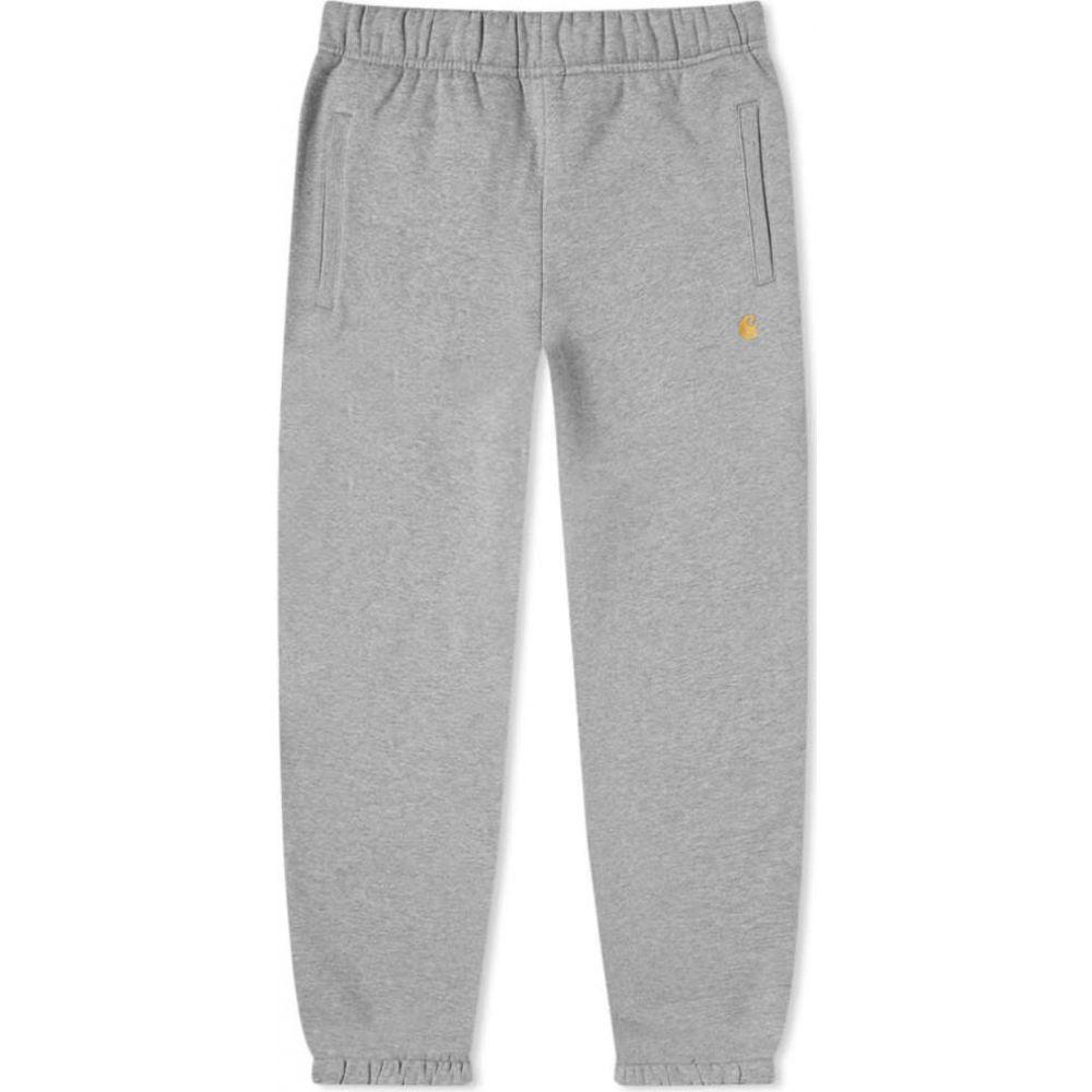 カーハート Carhartt WIP メンズ スウェット・ジャージ ボトムス・パンツ【chase sweat pant】Grey Heather/Gold