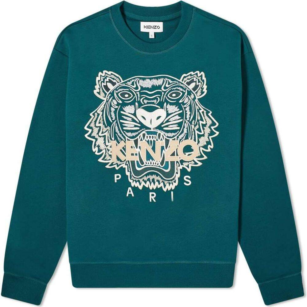 ケンゾー Kenzo メンズ スウェット・トレーナー トップス【classic tiger crew sweat】Green