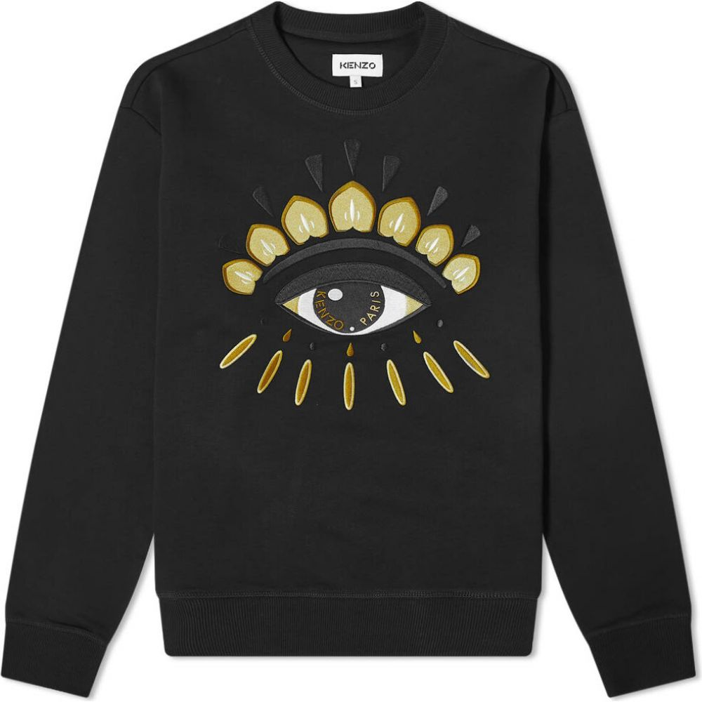 ケンゾー Kenzo メンズ スウェット・トレーナー トップス【classic eye icon crew sweat】Black