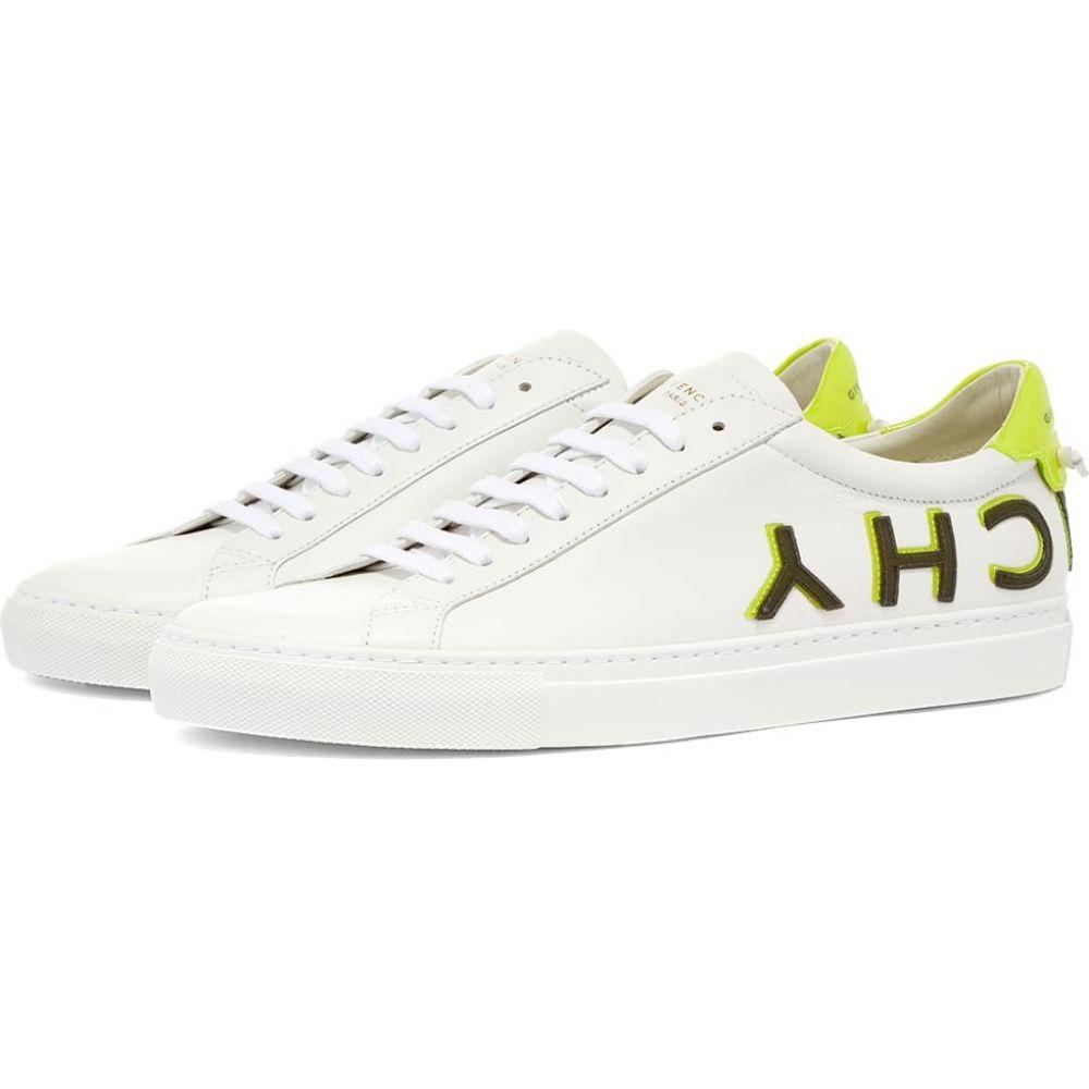 ジバンシー Givenchy urban street ローカット logo シューズ・靴【reverse スニーカー sneaker】White/Yellow メンズ low