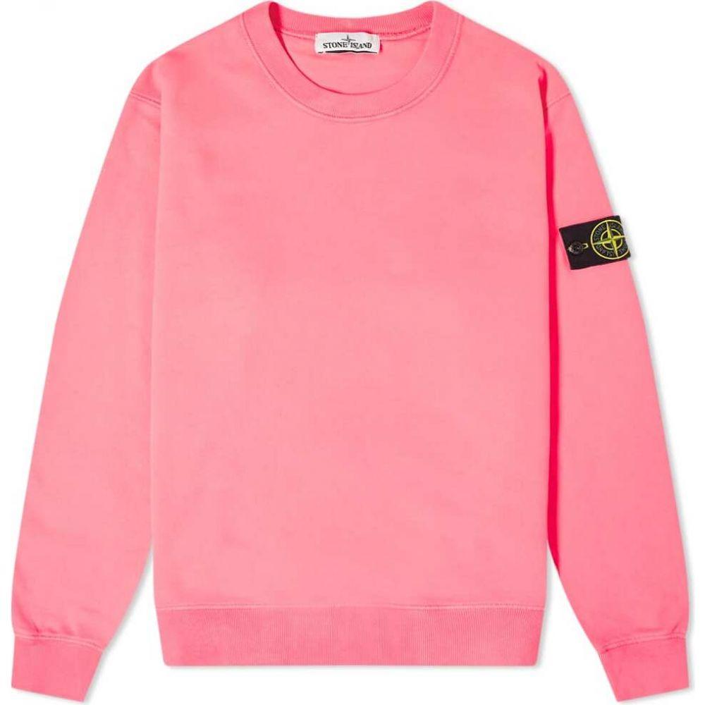 ストーンアイランド Stone Island メンズ スウェット・トレーナー トップス【garment dyed crew sweat】Pink
