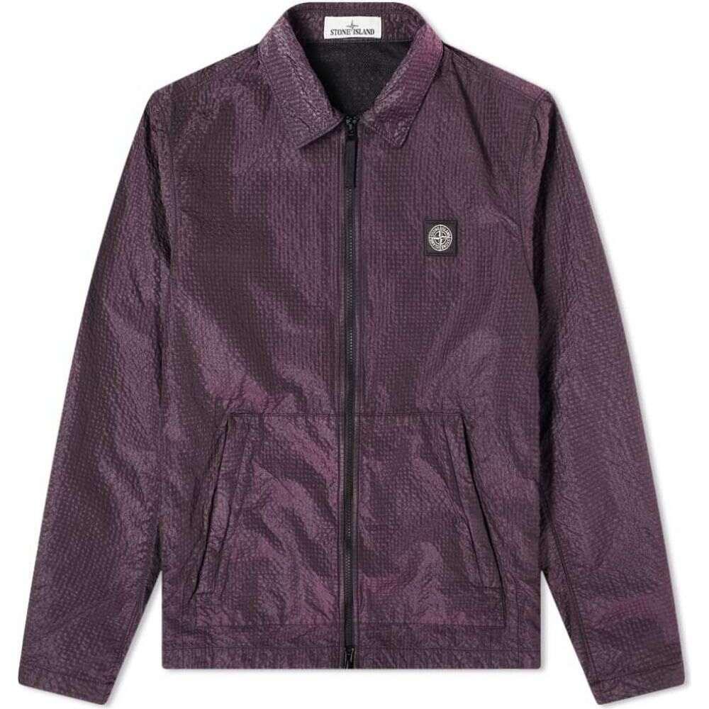 ストーンアイランド Stone Island メンズ ジャケット オーバーシャツ アウター【seersucker nylon overshirt】Purple