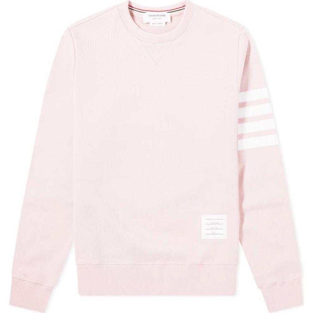 トム ブラウン Thom Browne メンズ スウェット・トレーナー トップス【engineered stripe crew sweat】Light Pink