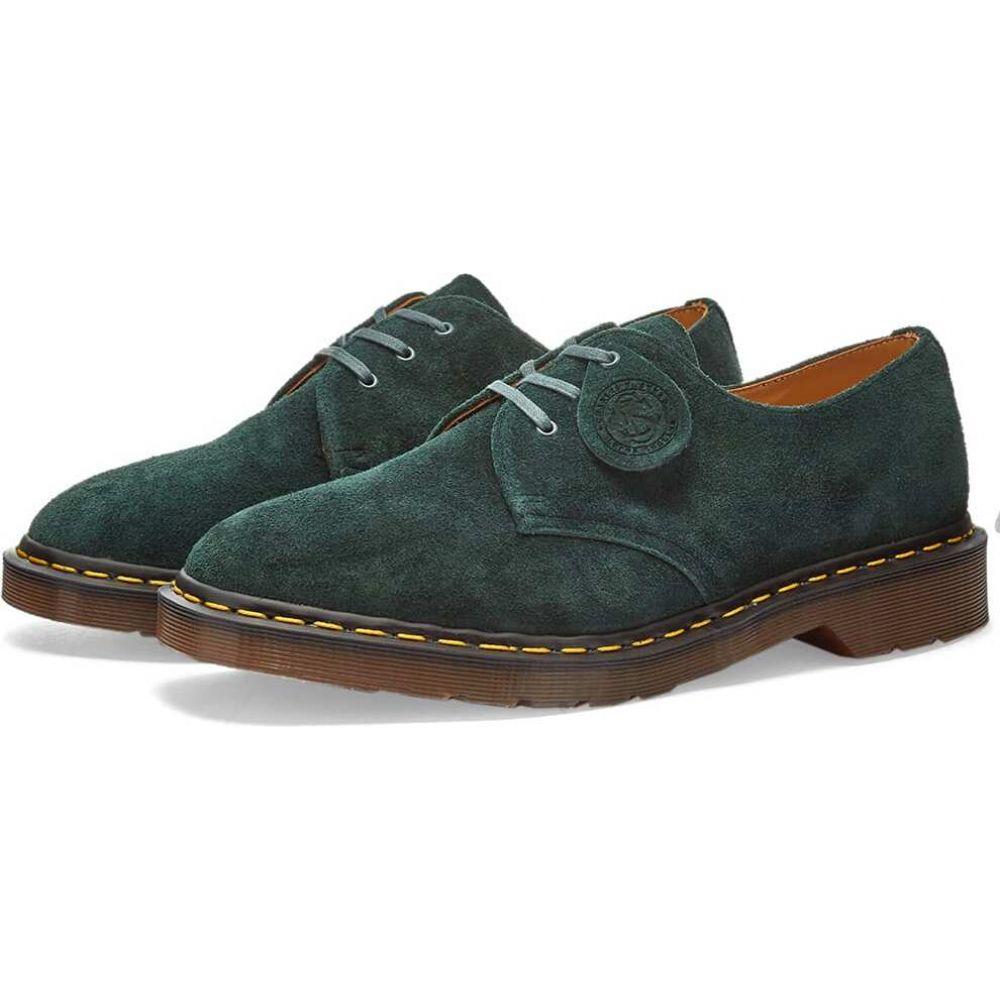 ドクターマーチン Dr Martens メンズ シューズ・靴 【dr. martens x stead 3-eye shoe - made in england】Green Night/Desert Suede