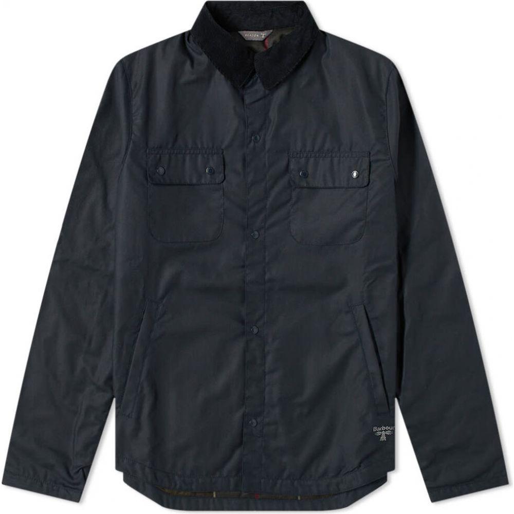 バブアー Barbour メンズ ジャケット シャツジャケット アウター【beacon akenside wax shirt jacket】Navy
