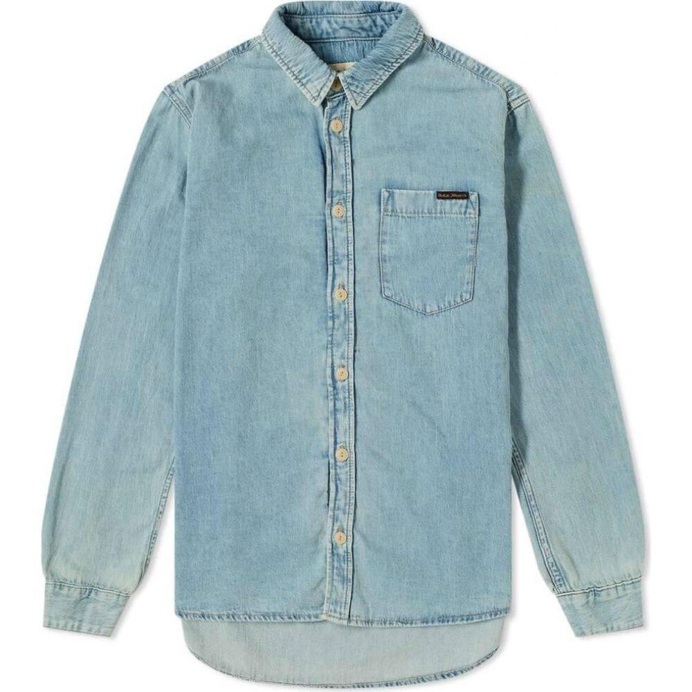 ヌーディージーンズ Nudie Jeans Co メンズ シャツ トップス【nudie albert light structure shirt】Denim