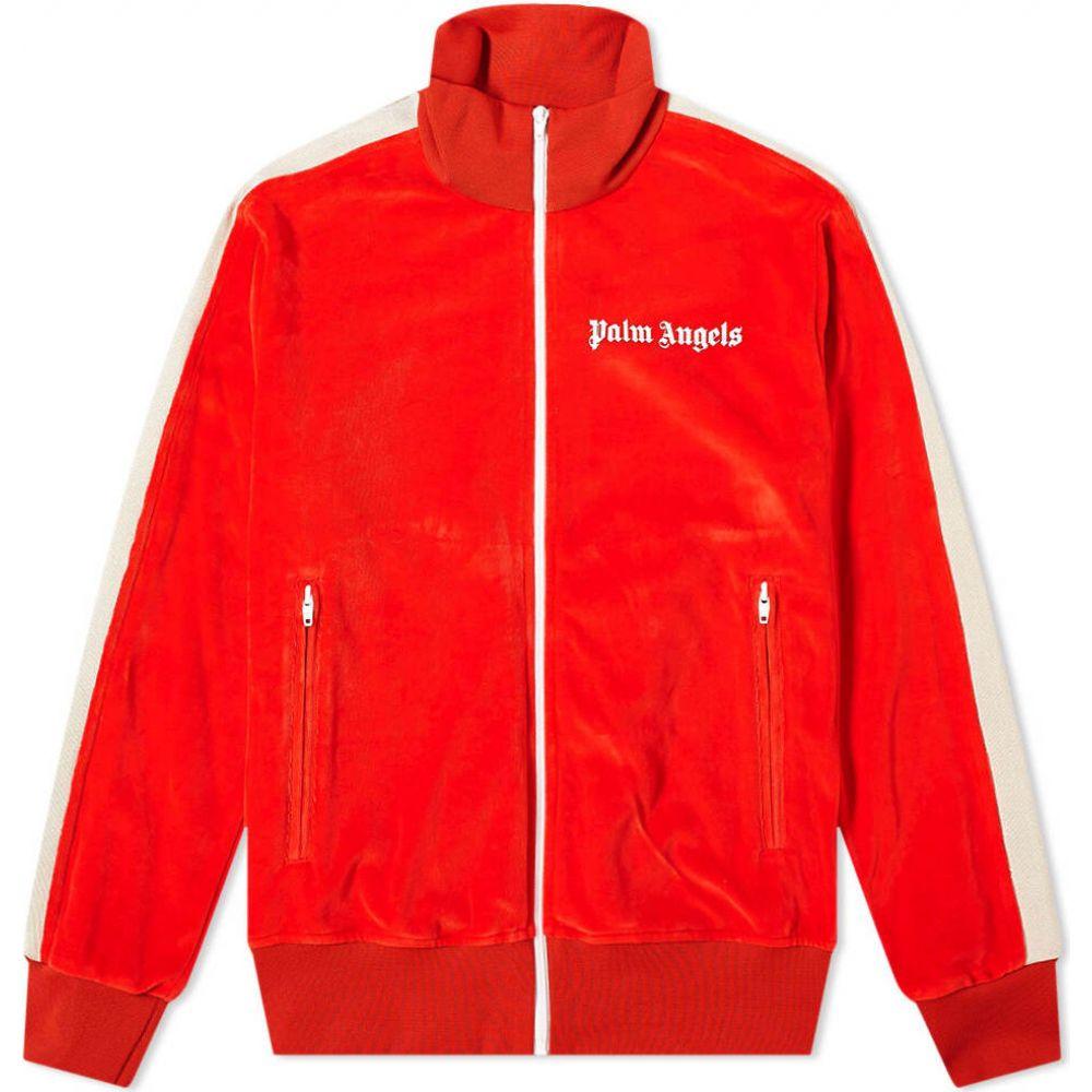 パーム エンジェルス Palm Angels メンズ ジャージ アウター【chenille track jacket】Red