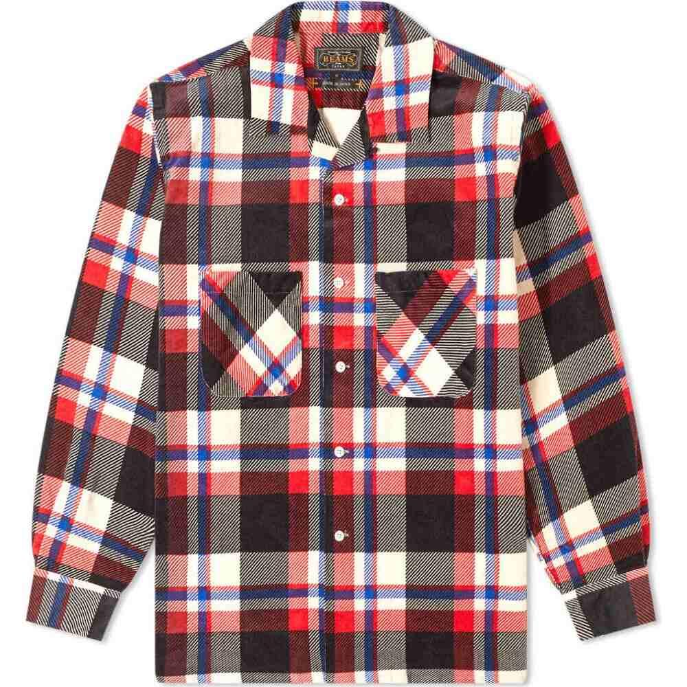 ビームス プラス Beams Plus メンズ シャツ トップス【open collar corduroy shirt】Black