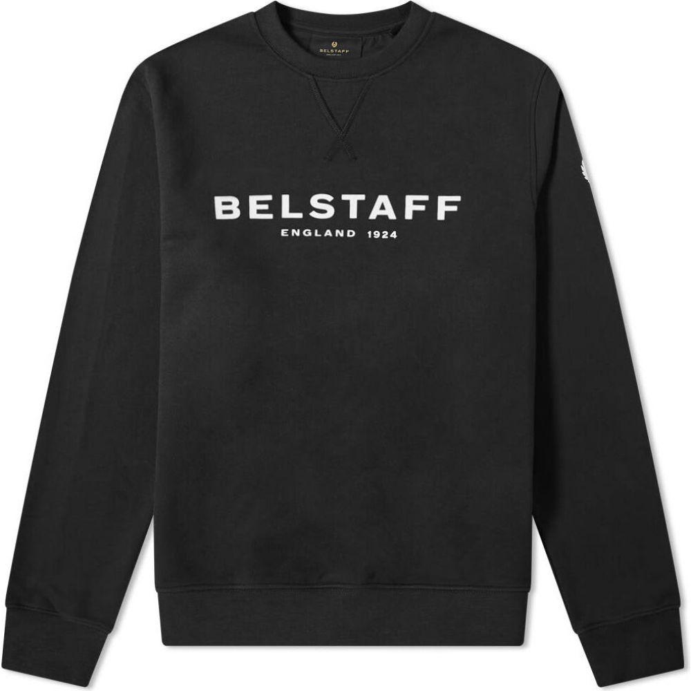ベルスタッフ Belstaff メンズ スウェット・トレーナー トップス【1924 logo crew sweat】Black/White