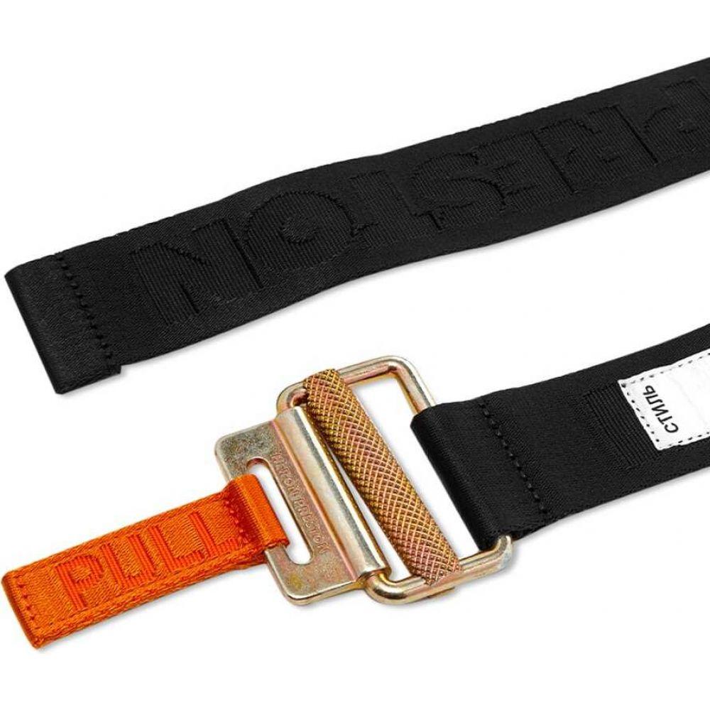 ヘロン プレストン Heron Preston メンズ ベルト 【classic buckle 4cm tape belt】Black
