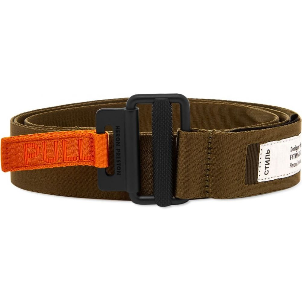 ヘロン プレストン Heron Preston メンズ ベルト 【classic buckle 4cm tape belt】Dark Olive