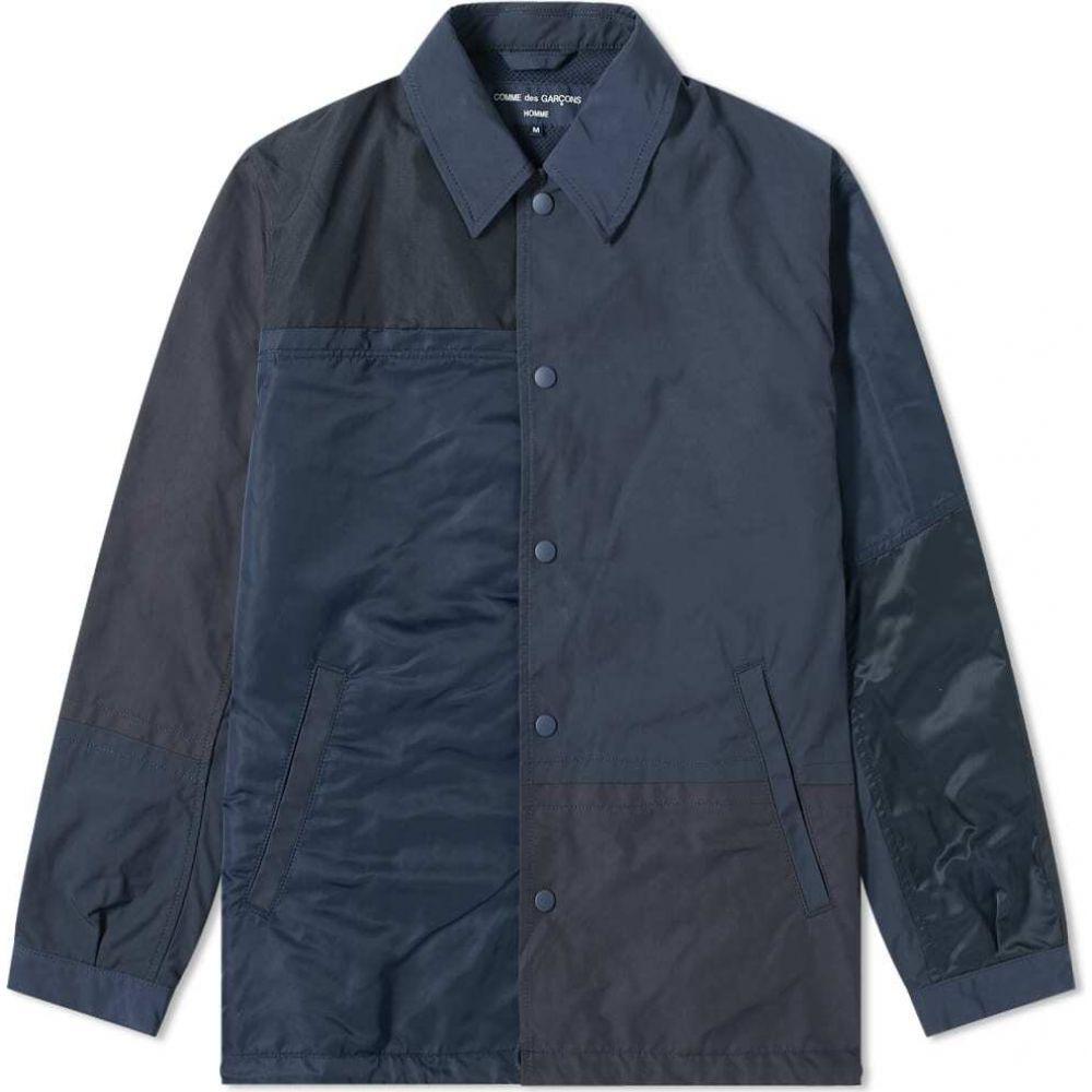 コム デ ギャルソン メンズ アウター ジャケット Navy Mix サイズ交換無料 Garcons コーチジャケット des Coach Homme Jacket Comme 全商品オープニング価格 新品未使用正規品 Panel Nylon