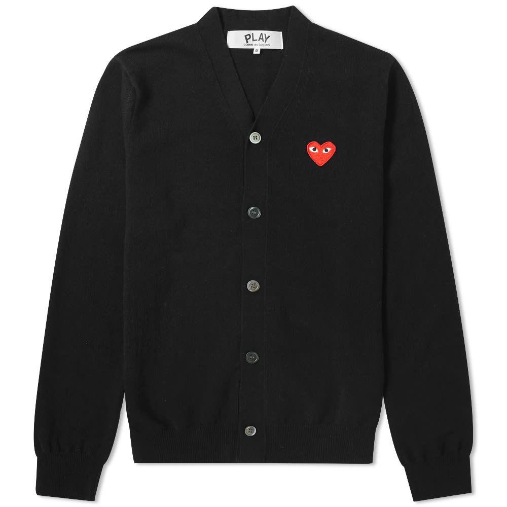 コム デ ギャルソン Comme des Garcons Play メンズ カーディガン トップス【red heart cardigan】Black