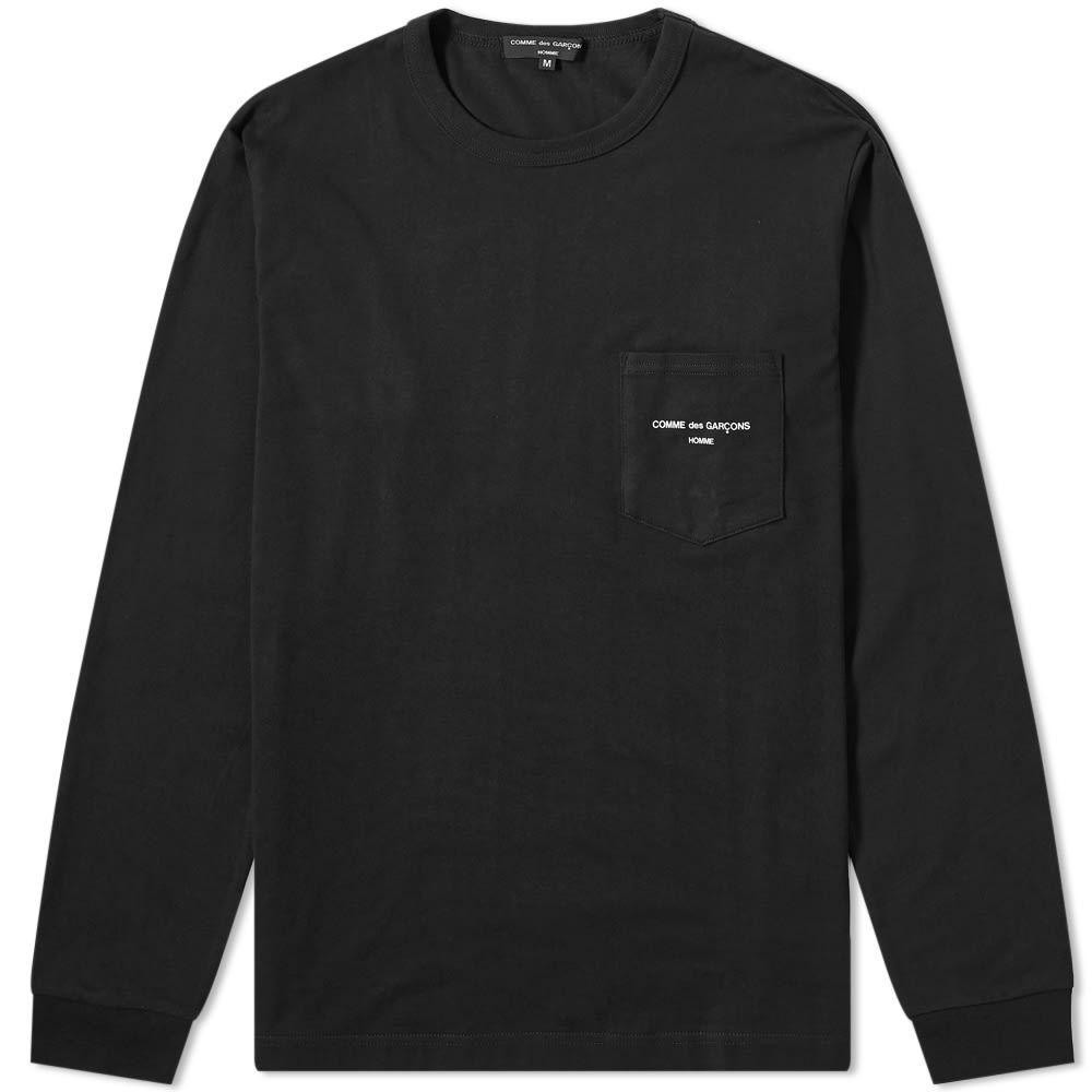 コム デ ギャルソン Comme des Garcons Homme メンズ 長袖Tシャツ ロゴTシャツ トップス【long sleeve logo tee】Black