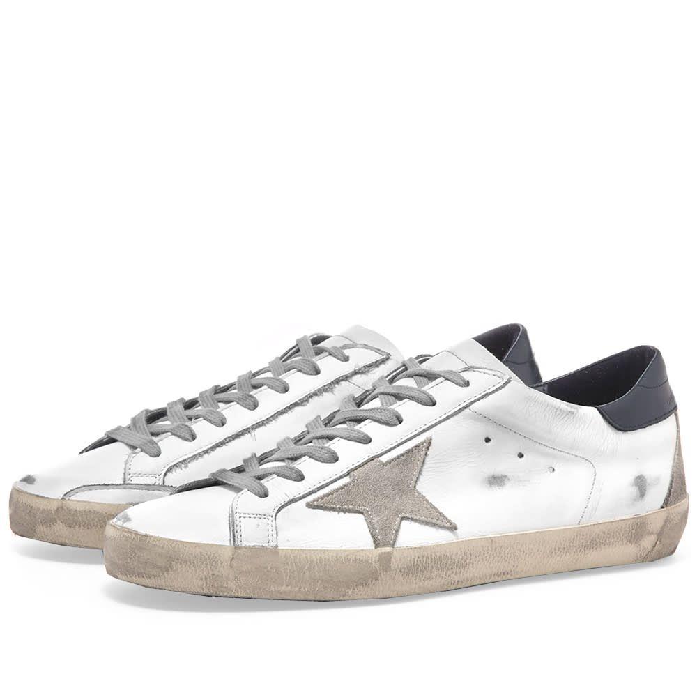 ゴールデン グース Golden Goose メンズ シューズ・靴 スニーカー【Superstar Leather Sneaker】White/Blue